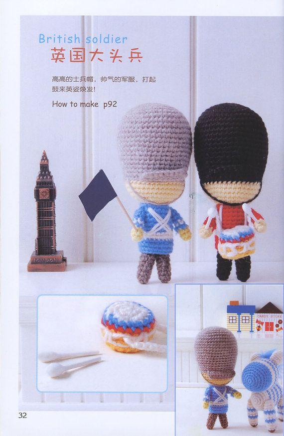 Amigurumi patterns - crochet toys - Japanese amigurumi book - crochet pattern - amigurumi books - ebook - PDF - instant download