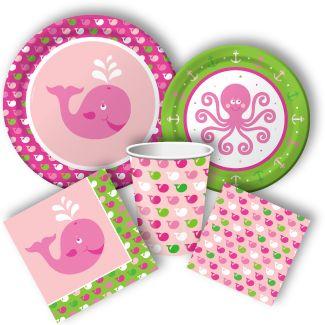 Ocean Preppy Girl Party Supplies, Sea Animals Party Supplies: Discount Party Supplies