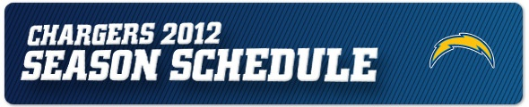 2012 San Diego Chargers Schedule - Chargers.com