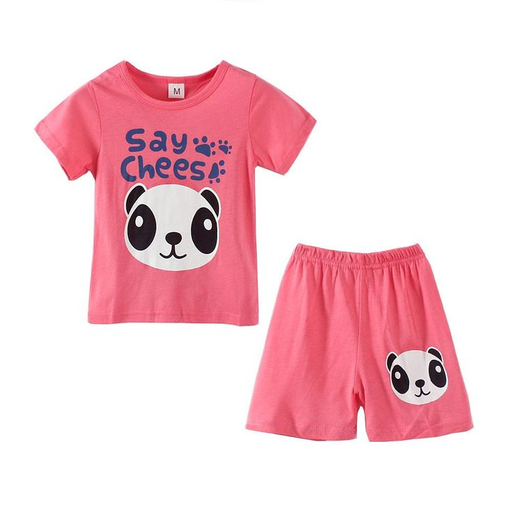 """Mud Kingdom Girls' Say Chees Panda Print Short Sleeve T-shirts and Shorts Summer Sets 6T Rose Red. Featured Panda Print. Adorable. For Summer. Note: Height Is A Key Reference In Choosing The Size. Please Read """"Size Specification"""" In """"Product Description"""" To Make Sure This Fits As Expected When Choose Size."""
