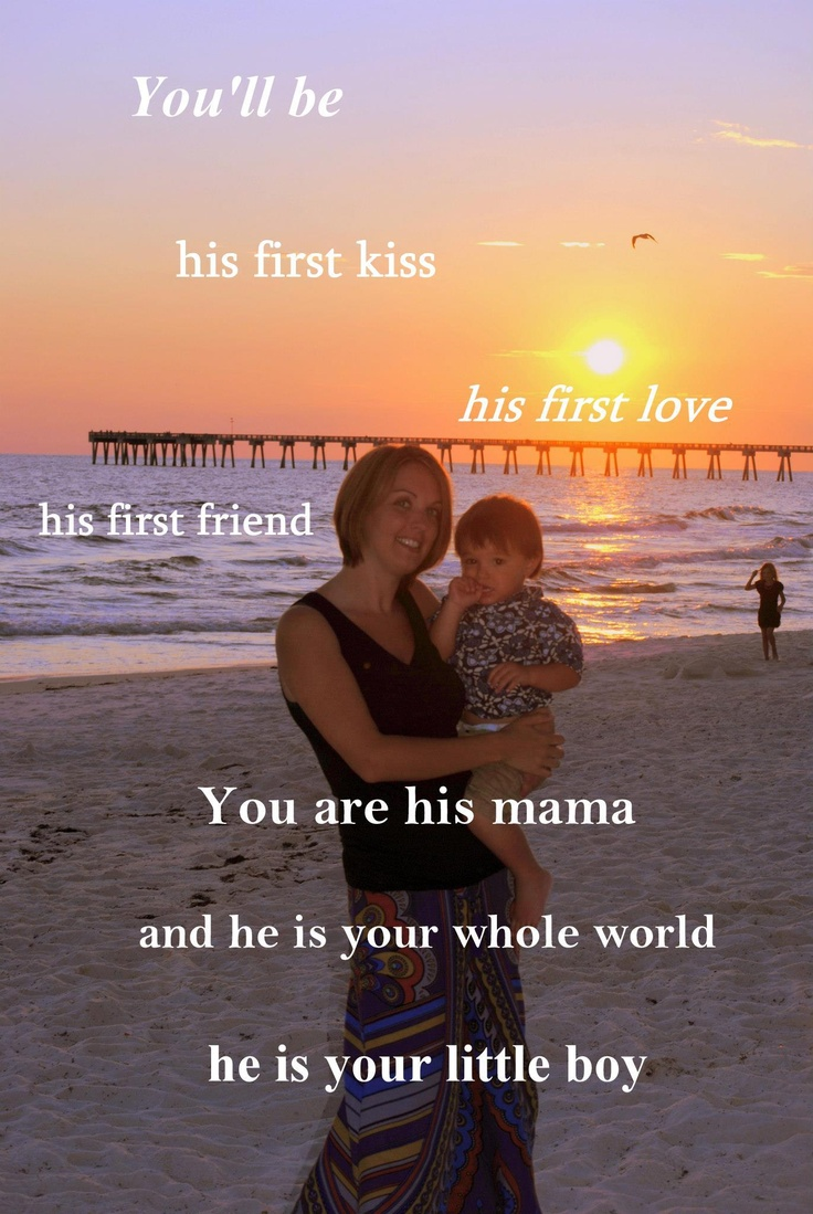 My version of the mama/son picture :)  Perfect for every mother!!