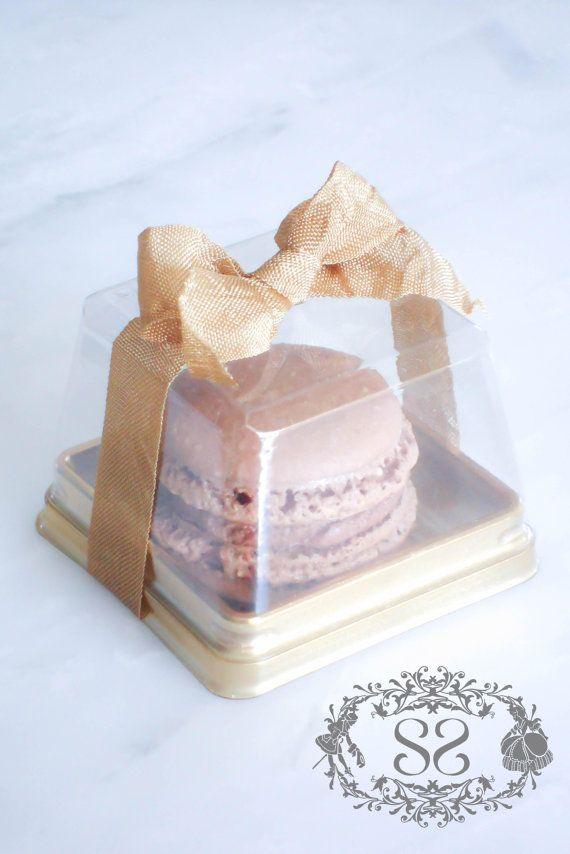 Wedding Favors French Macaron Favor Baptism Communion Favor Box and (1) French Macaroon