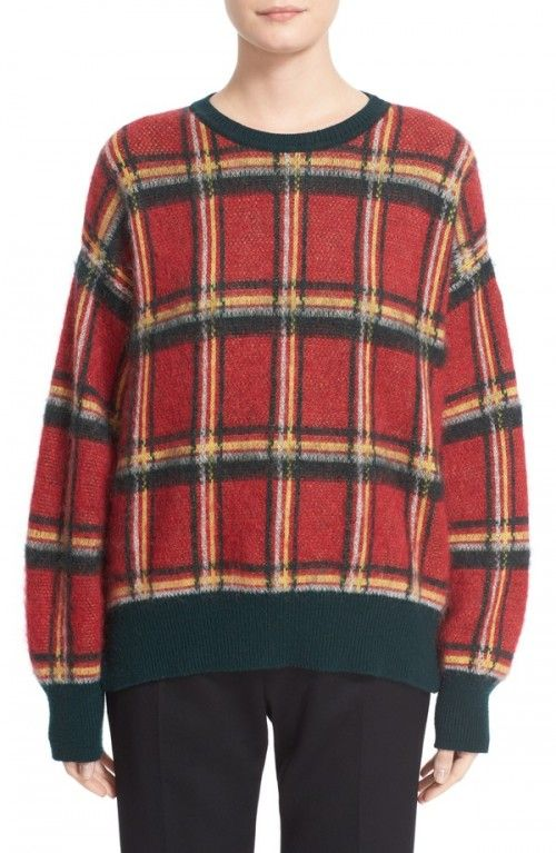 Moncler+Women's+Wool+Blend+Check+Sweater+|+Clothing