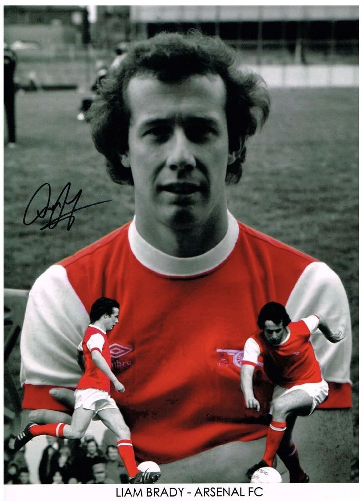 LIAM BRADY ARSENAL LEGEND AUTHENTIC LARGE HAND SIGNED PHOTO | eBay