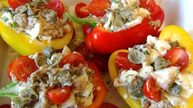 This same recipe can be done with aubergines and courgettes too. I have added the pork as a source of protein, but you could serve the peppers on their own for a delicious vegetarian starter, or alongside any other meat or fish of your choice. www.beautifulpuglia.com