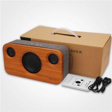 ARCHEER A320 Bamboo Bluetooth Speaker Portable Subwoofer HIFI Stereo Audio Power Sale - Banggood.com