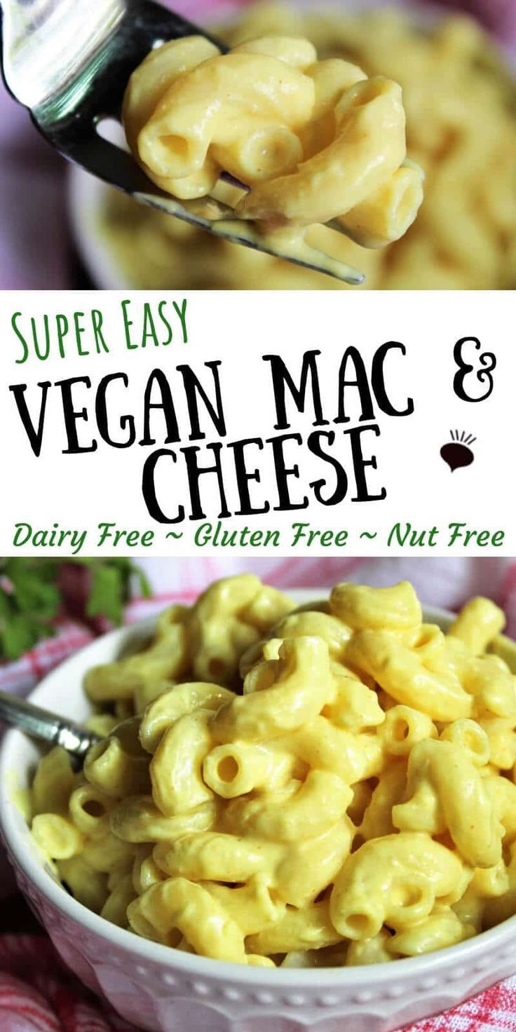 Super Easy Vegan Mac And Cheese Dairy Free Glutne Free And Nut Free Dairy Free Recipes Dinner Gluten Free Dairy Free Recipes Dairy Free Lunch