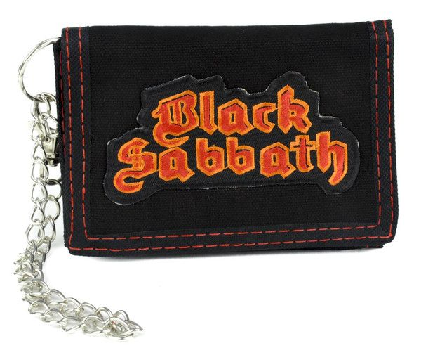 Black Sabbath Tri-fold Wallet with Chain Alternative Clothing