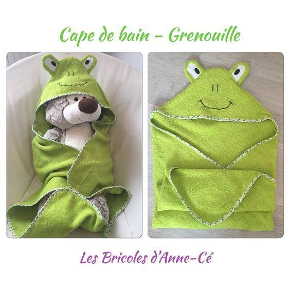 [Tuto] – Cape / Sortie de bain – Grenouille   Les Bricoles d'Anne-Cé