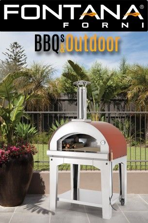 Fontana Pizza Oven Mangiafuoco   BBQ's & Outdoor