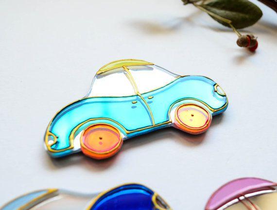 Car#Magnet#Fridge magnet#Glass#Home#Little car#Magnet#Home decorations#Gift#Fridge decor#Handiwork#Car magnet#souvenir#Gift idea#Car decorations#decorations от JulliaTyasko