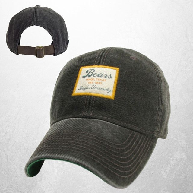 "This great looking hat is inspired by the classic coach's cap from the 1960's. This Baylor Vintage Serge hat features a great looking patch outlined in Gold and is imprinted with the words ""Bears, Wac"