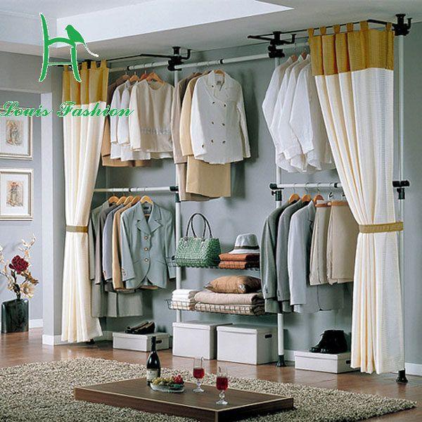 Koreanische Einfache Kleiderschrank Hause Wohnzimmer Kleidung Baum Kleiderbugel Winkel Rahmen Schmiedeeisen Rahmen Kleiderbugel Einfache Garderobe Vorhang Schrank Haus Wohnzimmer Und Garderobe Selber Bauen
