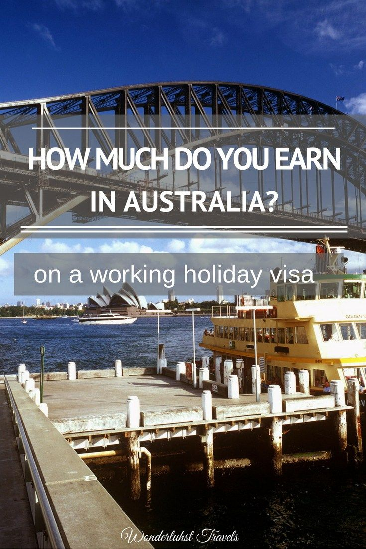 How much do you earn whilst working in Australia?