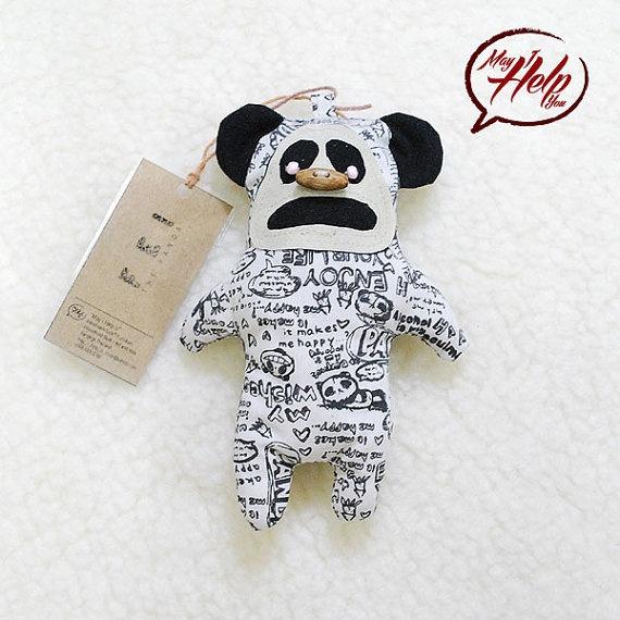Fei  The Panda  Handmade Doll / Cotton  / Character by MayIHelpU, $8.00