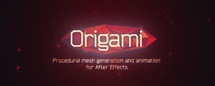 Origami is the procedural mesh generation and animation tool for After Effects. Create stunning effects like unfold and organic growth in a few clicks!