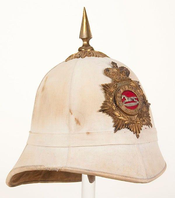 West Yorkshire Regiment pith helmet.