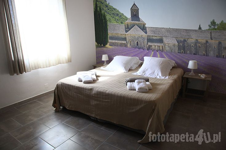 Provence wallpaper with lavender by Fototapeta4u.pl