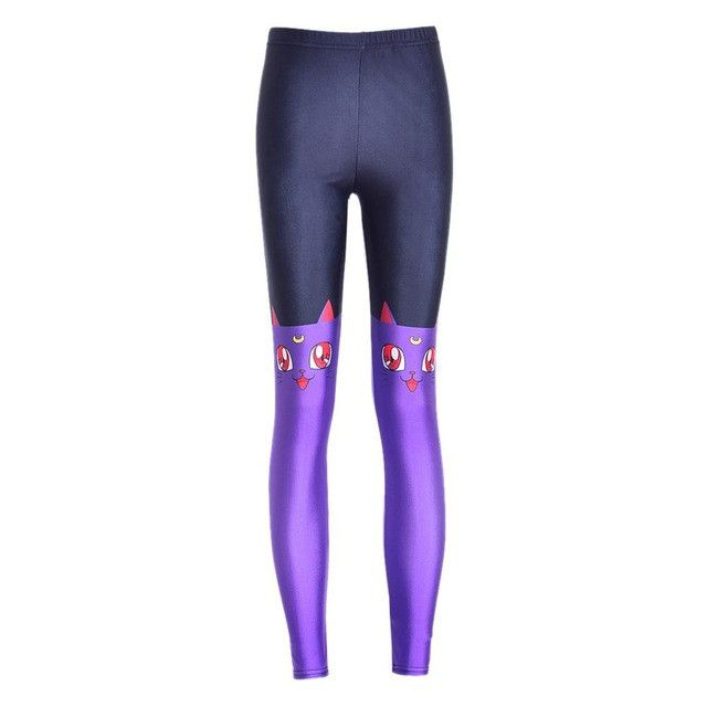 NEW 3421 sexy girl women Cartoon Serenity Sailor Moon Crystal 3D prints running elastic fitness sport leggings Yoga Pants