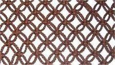 Alternating Square Knots Net Pattern instructions