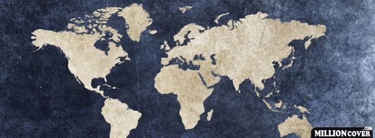 Download Vintage World Map Facebook Cover Timeline Banner For Fb Facebook Covers #Download #Vintage #World #Map #Facebook #Cover #Timeline…