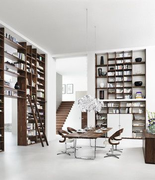 Gorgeous modern style library moderndesign library - Exclusive decoration of book shelf ...