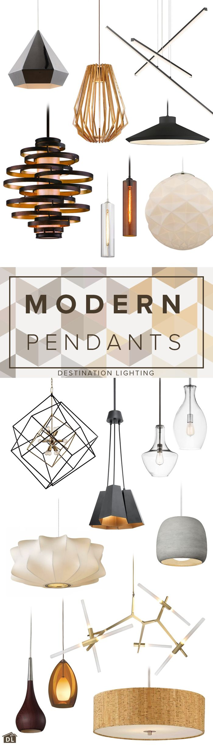 18 great looking modern pendant lights for every budget.