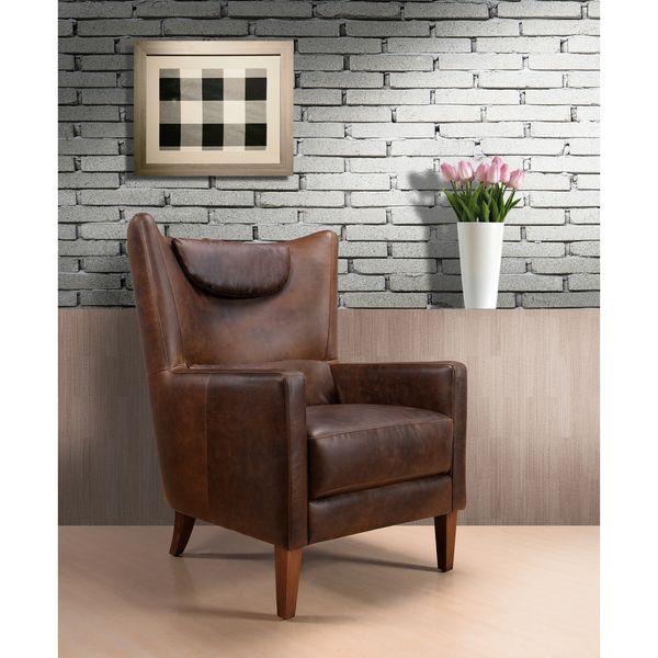 Weinstein Vintage Brown Leather Chair