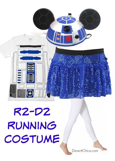 Easy R2-D2 Running Costume Idea