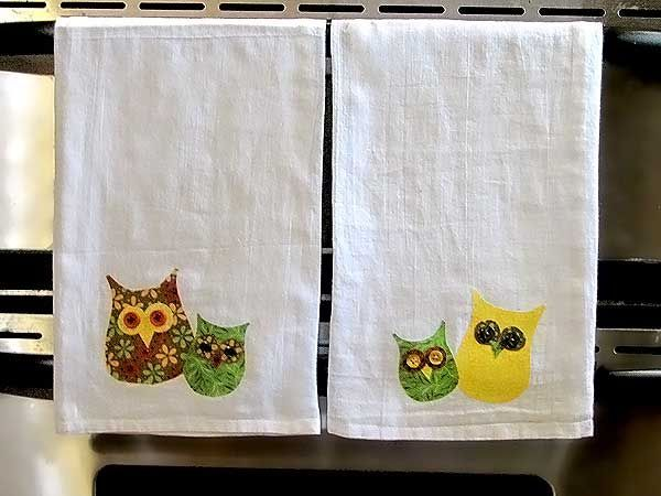 This adorably simple and organic owl hand towel is a cute addition to any fall kitchen.