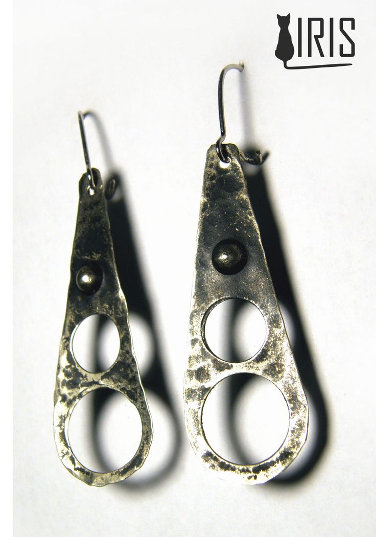 kolczyki z alpaki - Earrings - nickel silver