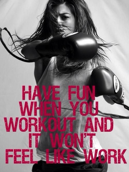 Have fun with your workout #boxing #kickboxing