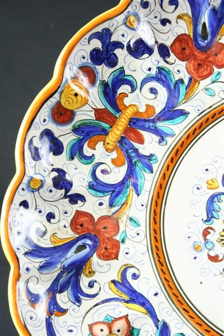 luv the colors... vintage italian majolica