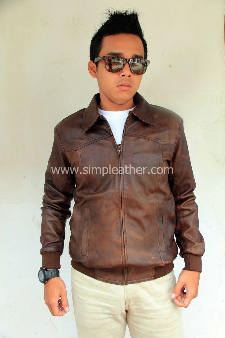 Jaket Kulit Pria Casual X101 - Simple Leather – Jaket Kulit Premium Indonesia, Pusat jaket kulit asli terbaik di Indonesia dengan kualitas premium. Tersedia jaket kulit dari bahan kulit domba premium, kulit domba lokal, dan kulit sapi, berlokasi di kota bandung. #jaketkulit #jaket #fashion #kulit #leather #leatherjacket