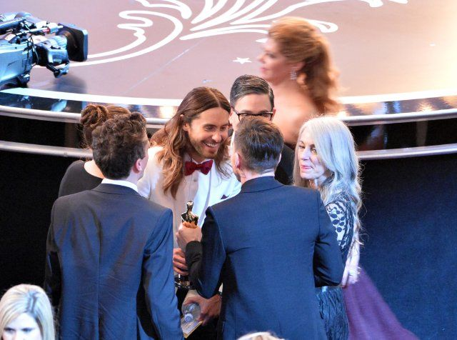Jared Leto and Constance Leto at event of The 86th Academy Awards (2014)