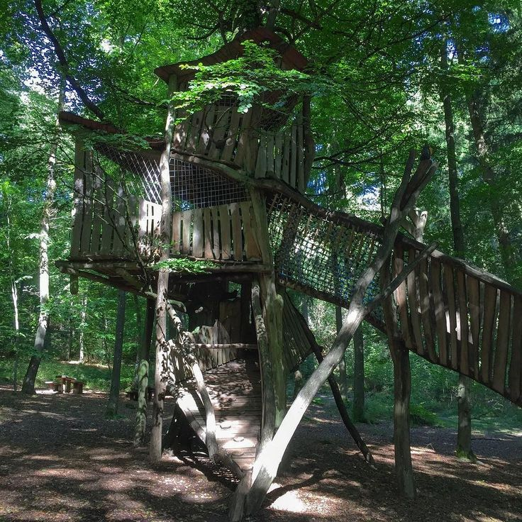 Awesome three story treehouse near Gunderath in the Eifel.
