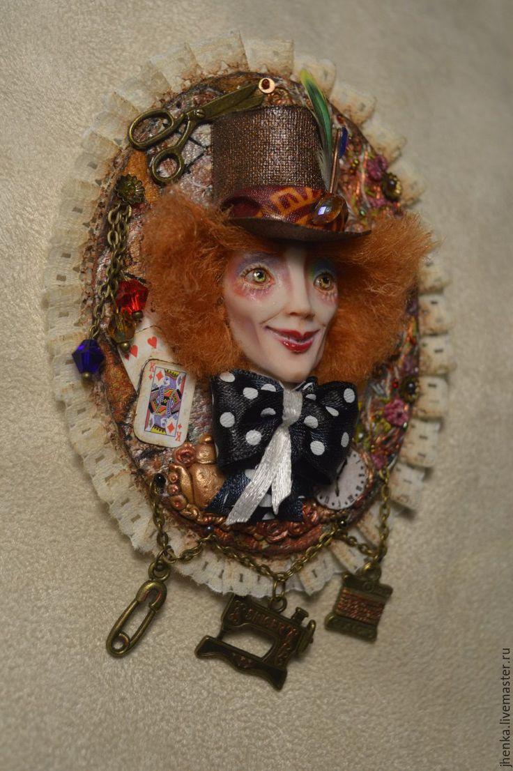 """Купить """"Безумный шляпник"""" - разноцветный, Льюис Кэрролл, алиса в стране чудес, алиса в зазеркалье, шляпа"""