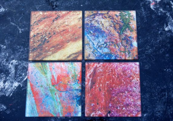 Glass Coasters Set of 4-Variety Pack Rocky by Zero12Photography