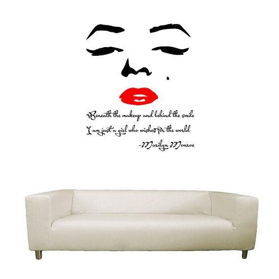 Marilyn Monroe Wall Art and Quote by StickItToEmLtd on