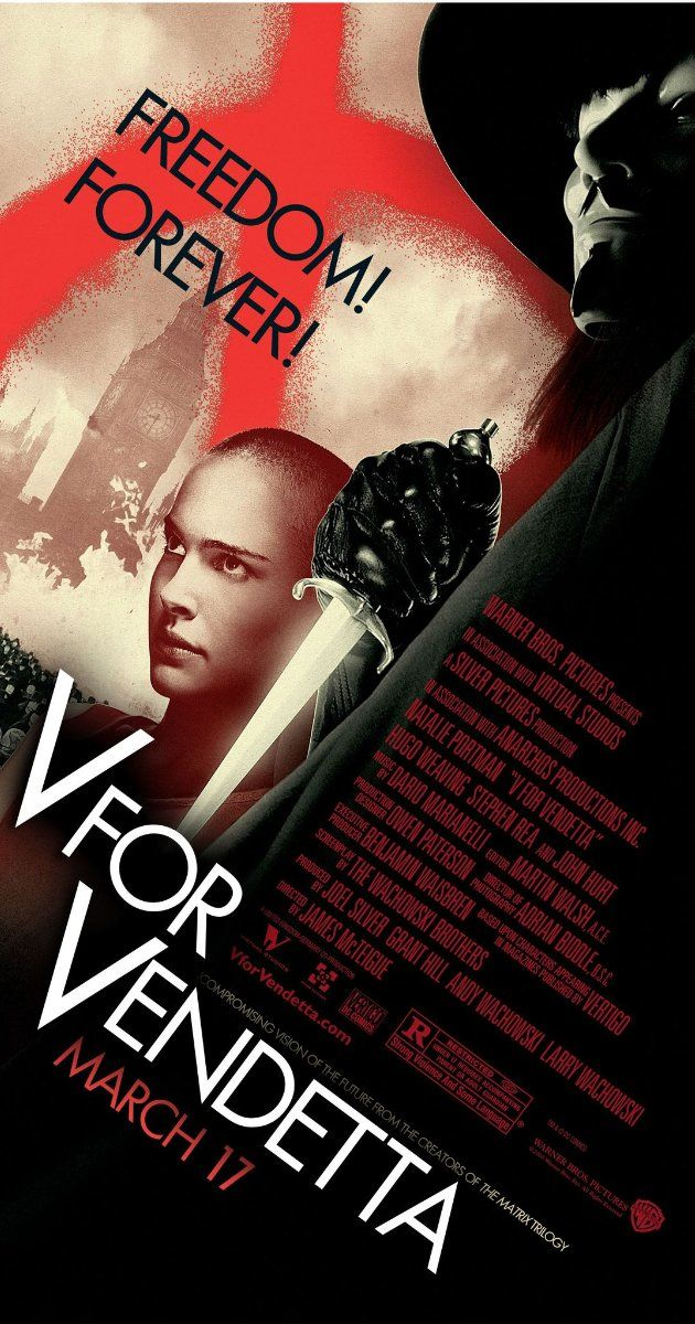 V for Vendetta (2005)~Who? Who is but the form following the function of what and what I am is a man in a mask.
