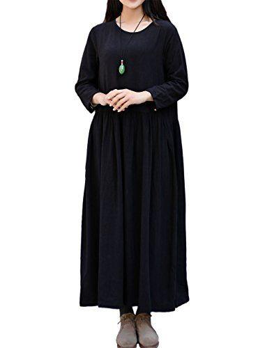 LifeShow Women's Spring/Fall Linen Dress Large Size Cotto... https://www.amazon.com/dp/B01N6N0CNY/ref=cm_sw_r_pi_dp_x_R.hpzbADVHYZ1