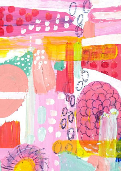 Red Dots—Abstract Art Work by Saffron Craig