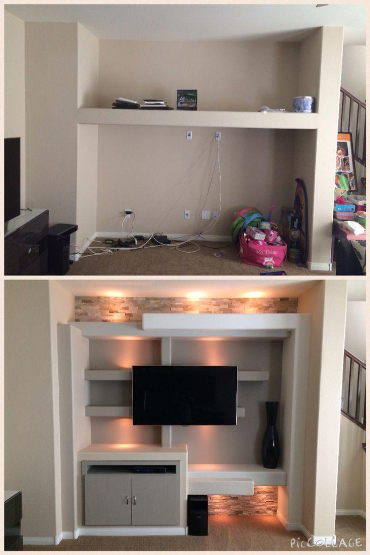 cosy drywall entertainment centers. Custom drywall entertainment center Las Vegas before and after  25 best Interior design images on Pinterest Living room Tv