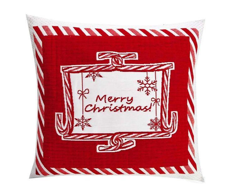Christmas Greeting White Párnahuzat 50x50 cm - Vivre