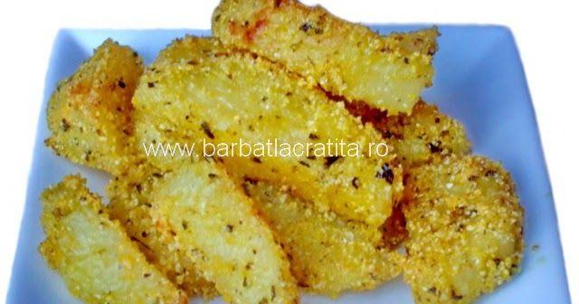 Cartofi crocanţi la cuptor (cu mălai) | RETETE | prajituri | mancare | BarbatLaCratita