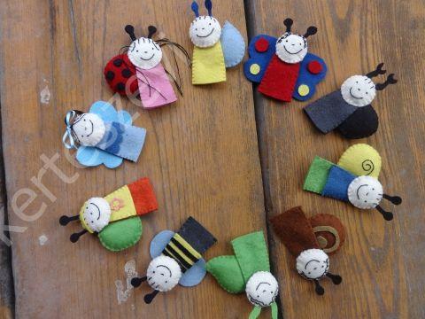 10db Bogyó és Babóca ujjbáb - filcbáb, bábkészlet (450ft/db), Baba-mama-gyerek, Játék, Játékfigura, Báb, Meska