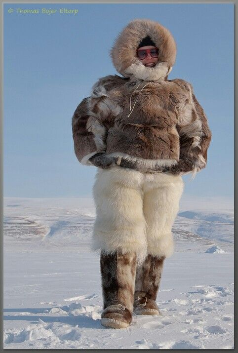 ARCTIC EXPEDITION GEAR: Reindeer fur anorak, Polar bear ...