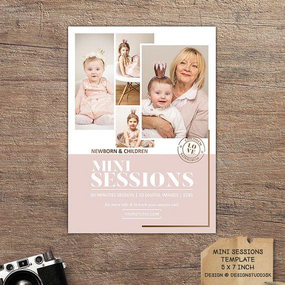 Versatile mini sessions marketing template. #photography #minisession #marketing