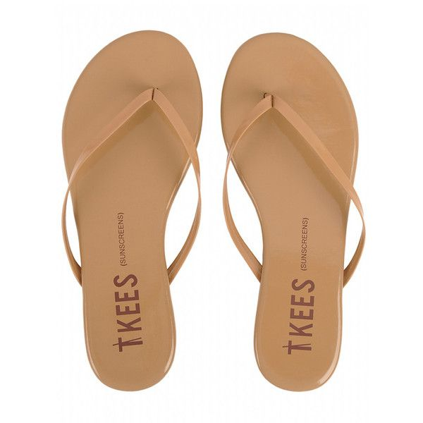 TKEES Flip Flops SUNSCREENS (2,480 PHP) ❤ liked on Polyvore featuring shoes, sandals, flip flops, tkees sandals, nude patent leather shoes, tkees, tkees shoes and patent leather sandals