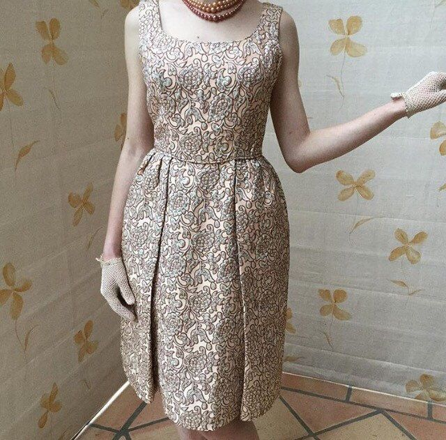1960s vintage couture silk evening dress by designer jeane for Lord and taylor dresses for weddings